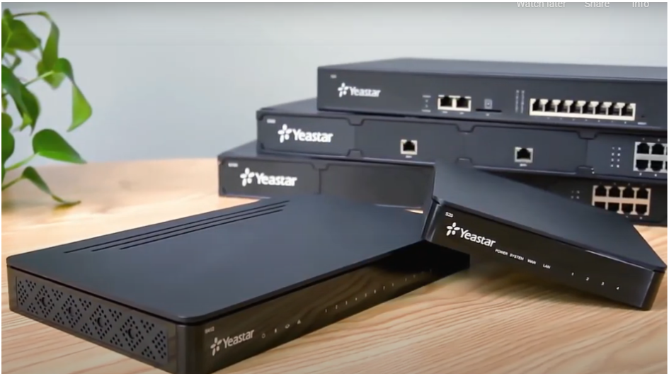 Yeastar S-series is hardware based PBX designed for small sized companies
